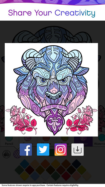 COLOR BY DISNEY APP app for adults, detox therapy in your phone