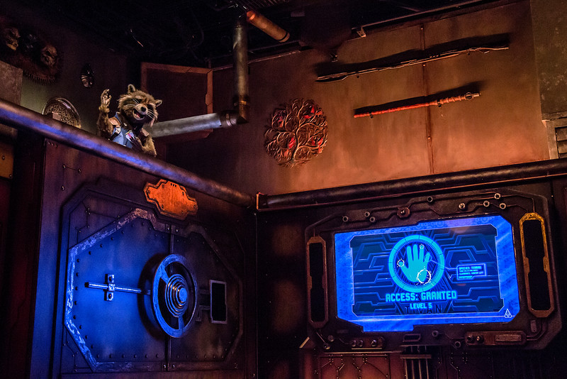 First look at new Rocket Raccoon Animatronic plus more stills and fun facts for 'Guardians of the Galaxy – Mission: BREAKOUT'