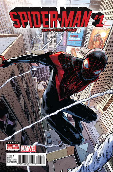 SPIDER-MAN #1 debuts with Miles Morales as famous web-slinger
