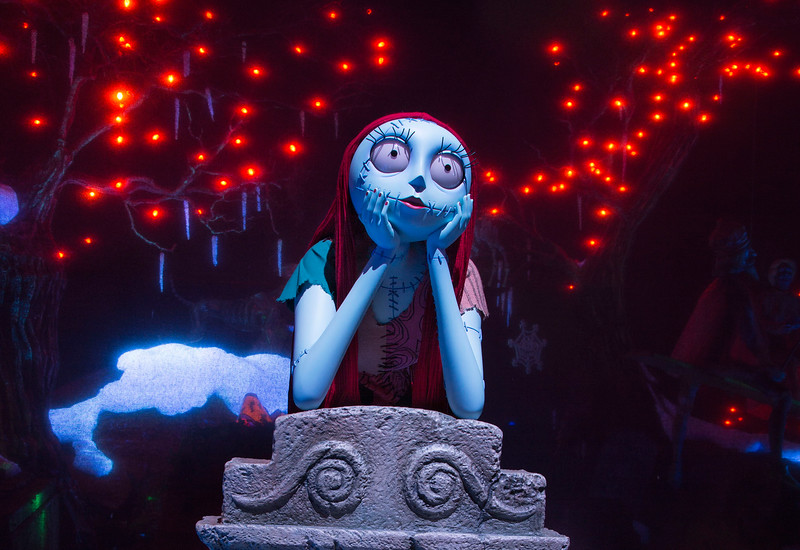 Sally joins HAUNTED MANSION HOLIDAY at Disneyland
