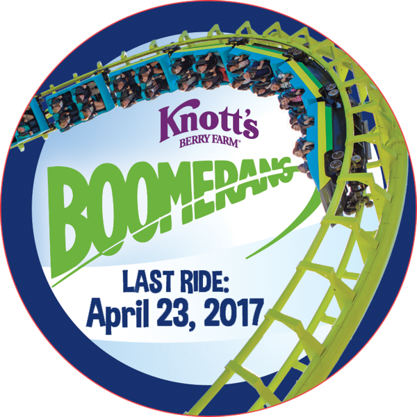Knott's Berry Farm says goodbye to legendary rollercoaster BOOMERANG on April 23