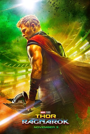 Thor gets a haircut in new THOR: RAGNAROK poster