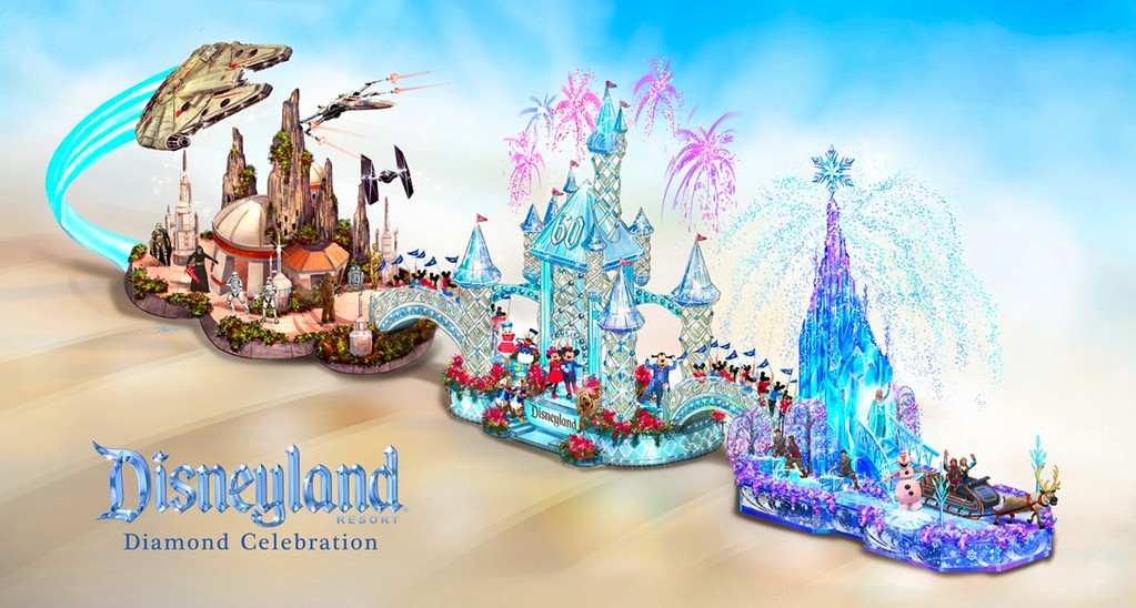 Disneyland Resort Rose Parade float boasts Frozen, Star Wars, and #Disneyland60