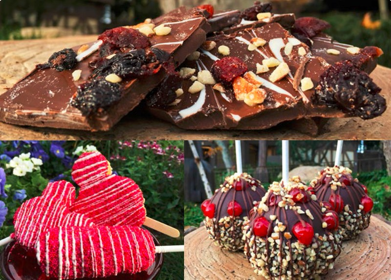 Valentine's Day treats join Black Forest featured treats in February at Disneyland Resort