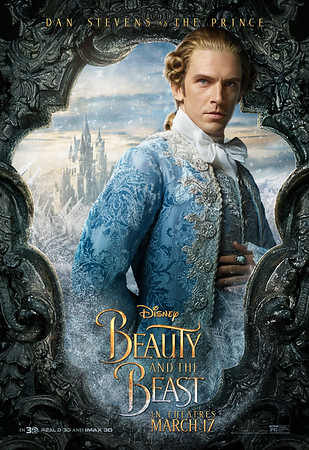 Dan Stevens as the Prince (instead of the Beast) plus more BEAUTY AND THE BEAST character posters