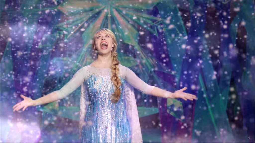 Potential first look at Elsa in FROZEN – LIVE AT THE HYPERION in new Disneyland Resort commercial